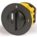 Рукоятка переключателя кулачкового для R01 для сх.1...7 серебристая площадка/черная ручка